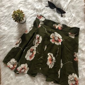 Cooperative Green Floral Skirt